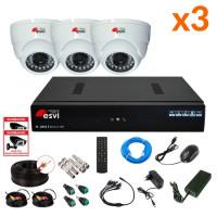AHD комплект на 3 камеры, 1 МП. KIT-HD-31M