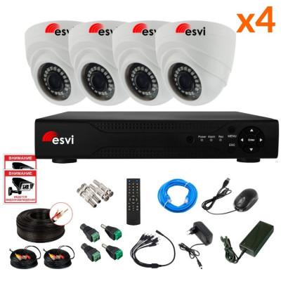 Готовый AHD комплект видеонаблюдения на 4 камеры, 2 МП. KIT-ST-42M