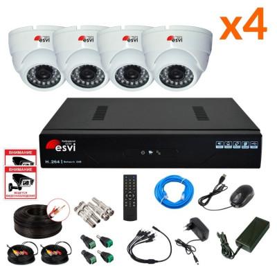 Готовый AHD комплект видеонаблюдения на 4 камеры, 1 МП. KIT-HD-41M