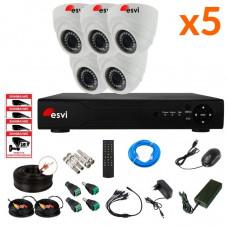 AHD комплект на 5 камер, 2 МП. KIT-ST-52M