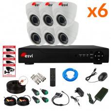 AHD комплект на 6 камер, 2 МП. KIT-ST-62M