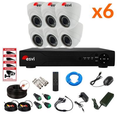 Готовый AHD комплект видеонаблюдения на 6 камер, 2 МП. KIT-ST-62M