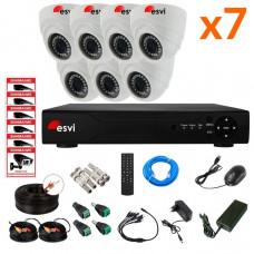 AHD комплект на 7 камер, 2 МП. KIT-ST-72M