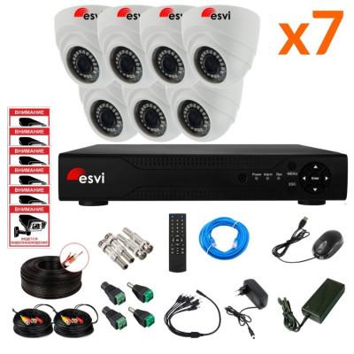 Готовый AHD комплект видеонаблюдения на 7 камер, 2 МП. KIT-ST-72M