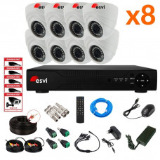 AHD комплект на 8 камер, 2 МП. KIT-ST-82M