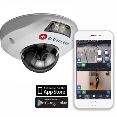 Мини-купольная IP-камера ActiveCam AC-D4121IR1 (3.6 мм) в вандалостойком корпусе
