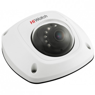 2Мп HD-TVI мини-купольная камера HiWatch DS-T251 с ИК-подсветкой для офисов и ритейла