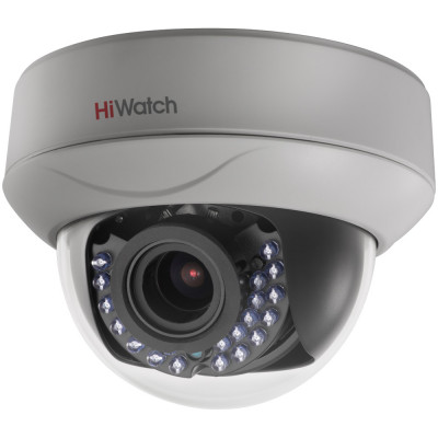 Внутренний бюджетный 2Мп HD-TVI купол HiWatch DS-T207 с вариообъективом