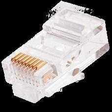 Коннектор RJ45/8P8C NIKOMAX NMC-RJ88RE06UD1-100 под витую пару неэкранированный, 100 шт