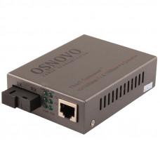 Оптический медиаконвертер Osnovo OMC-100-11S5b