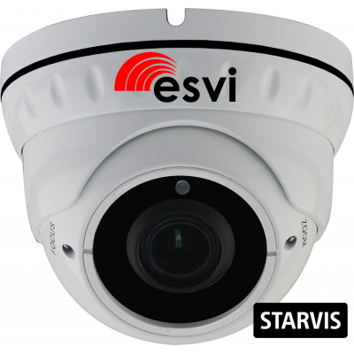 EVC-DNT-SL20-P/M (BV) купольная уличная IP видеокамера, 2.0Мп, f=2.8-12мм, POE, микрофон